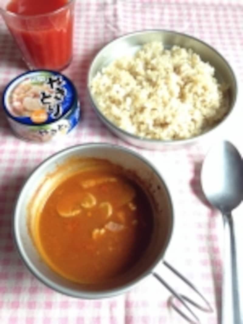 焼き鳥缶とトマトジュースでつくる本格カレー