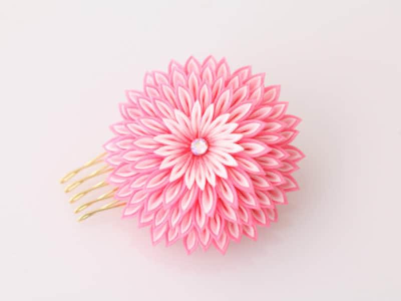 菊の花モチーフのヘアピン