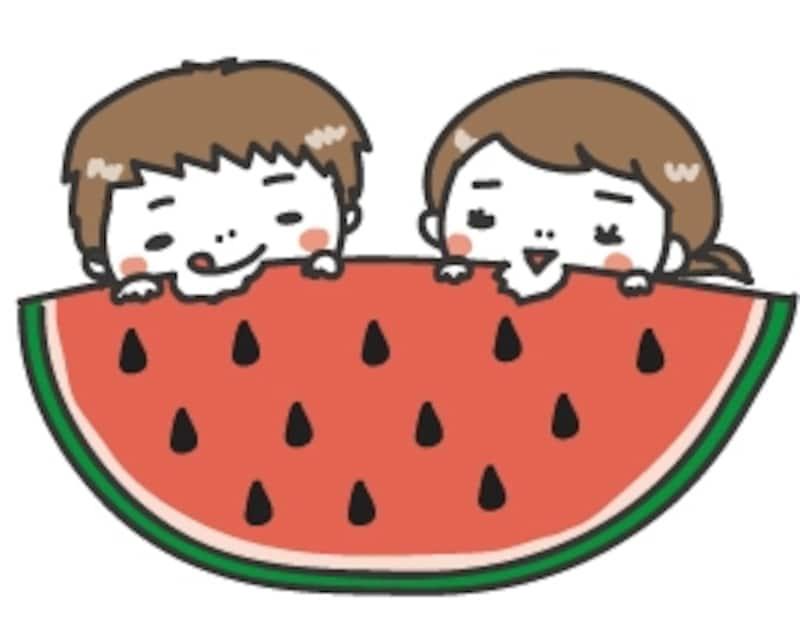 暑中見舞い イラスト 無料 フリー 子どもたち カラー かわいい