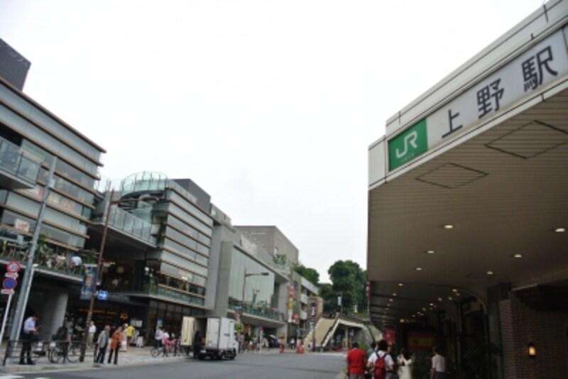 上野駅の不忍口側の風景