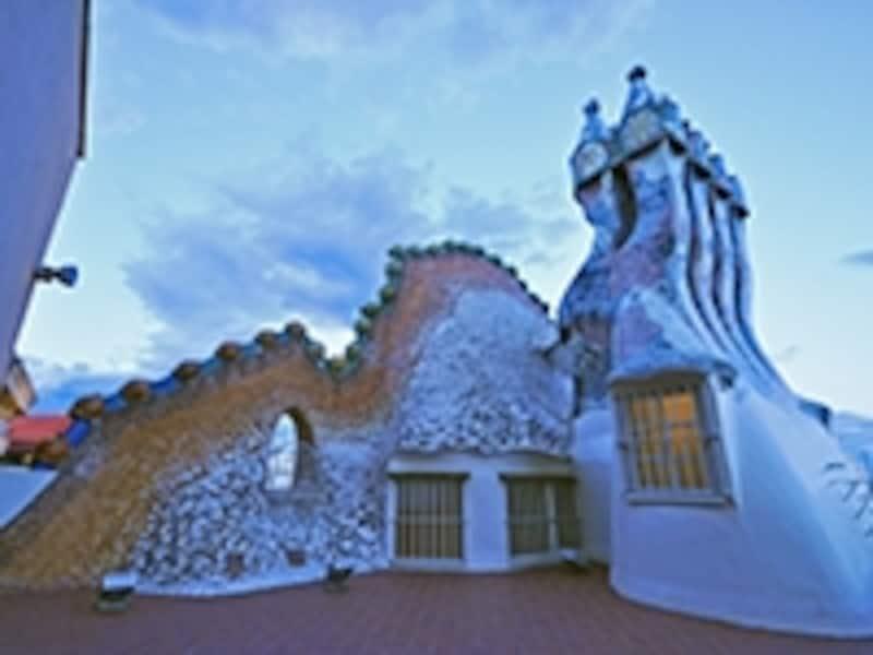 カサ・パトリョの屋上