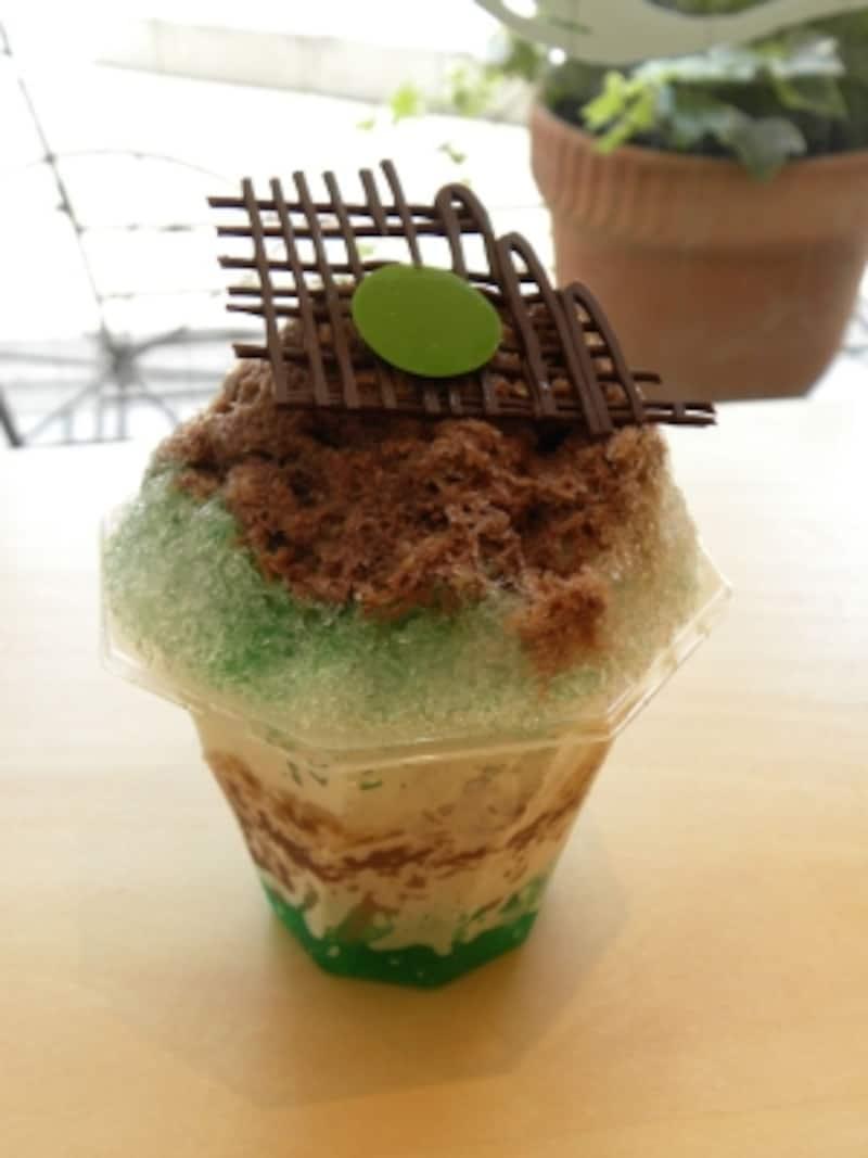 「パティスリーブリーズ」に昨年登場したかき氷「チョコミント」