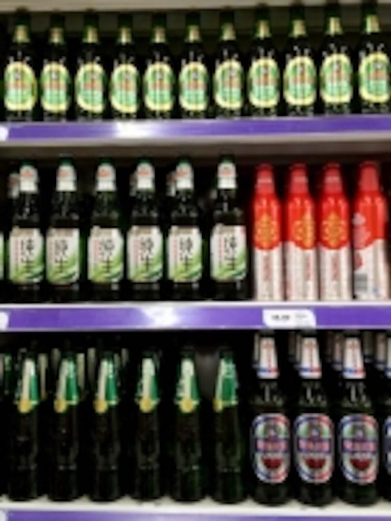 青島ビール「スーパーの売り場」