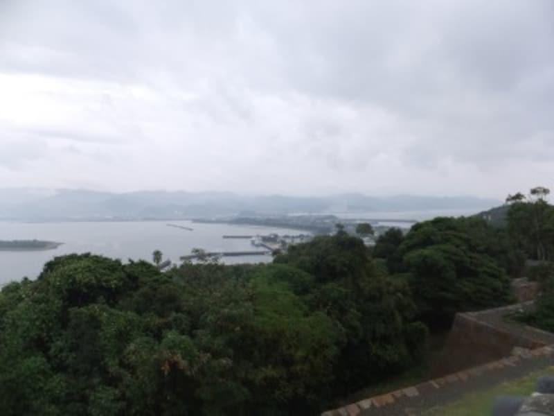 富岡城址から眺める天草下島