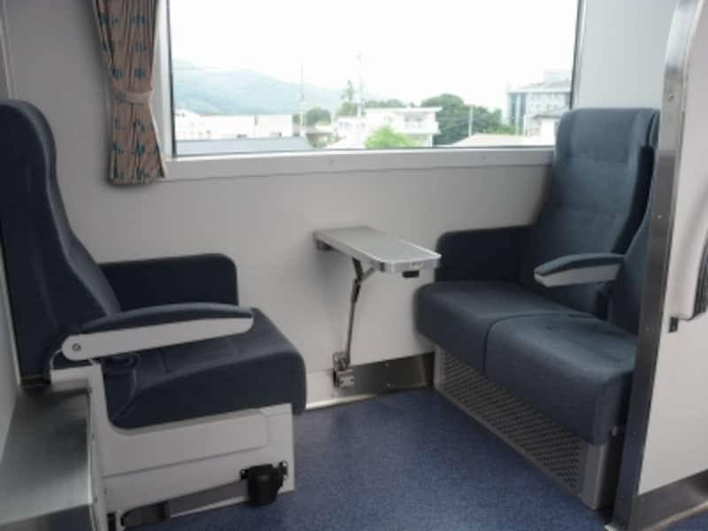 車椅子が利用できる2号車車端の席