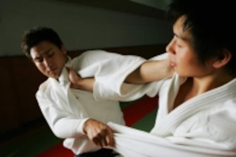柔道での組み手争い
