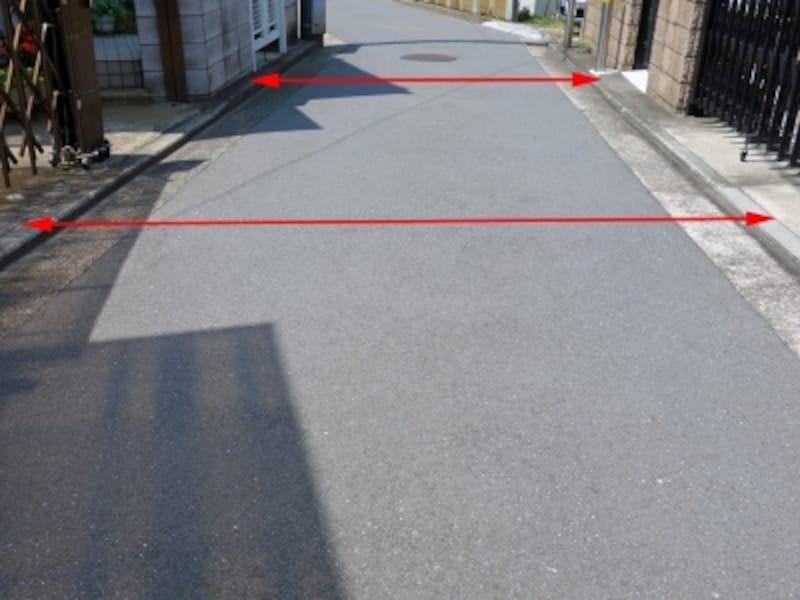 道路幅員の原則的な測り方