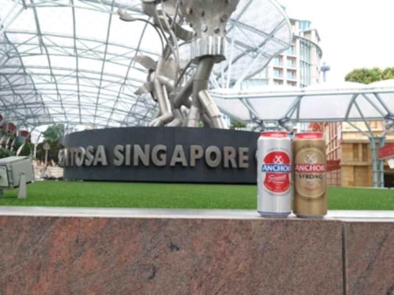 気温29度。シンガポールセントーサ島で頂きました。カラッとした空気とアンカービール、とてもおいしかったです。
