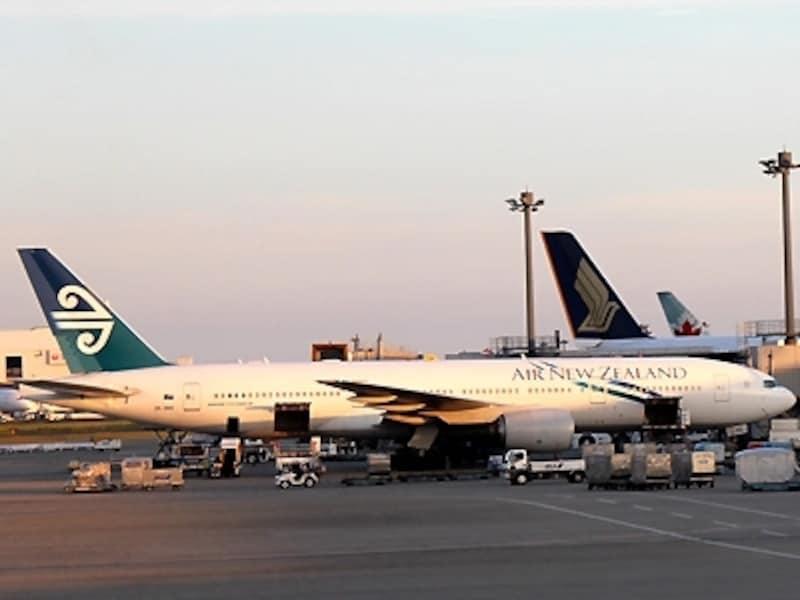夏にはクライストチャーチ直行便もあるニュージーランド航空