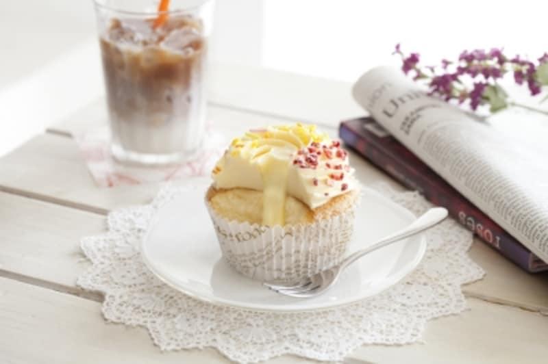 カップケーキundefinedバニラカスタード