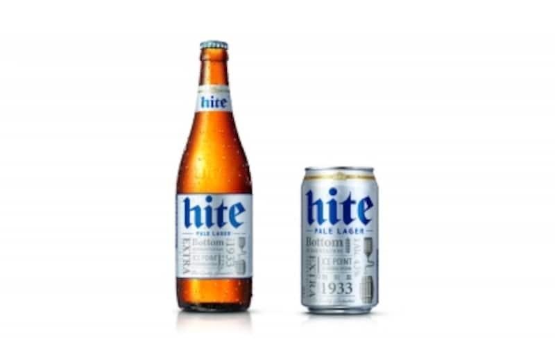 韓国ビール、いろいろ種類はあるけれど、まずはハイトとカスを飲んでみてください!どちらがお口に合いますか??(C)HITEJINRO