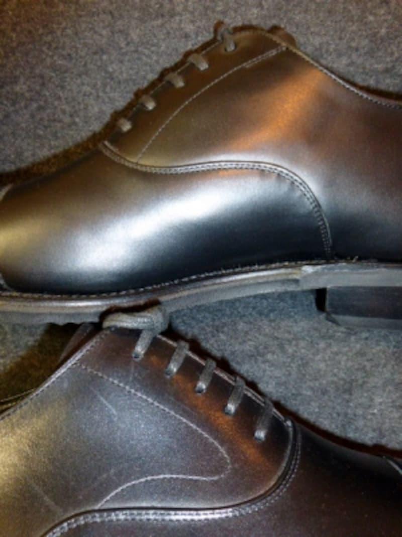 革靴フェイシング部分の比較