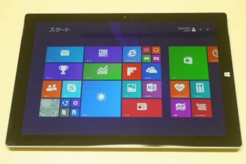 ディスプレイ解像度は2160×1440。SurfacePro2(1920×1080)の1.5倍のサイズとなります。