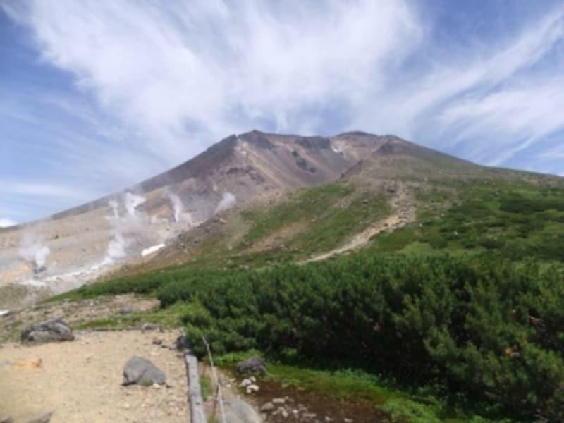 第五展望台から望む旭岳