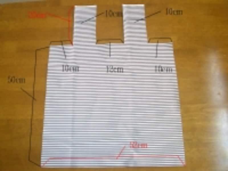 表布の裁断サイズ