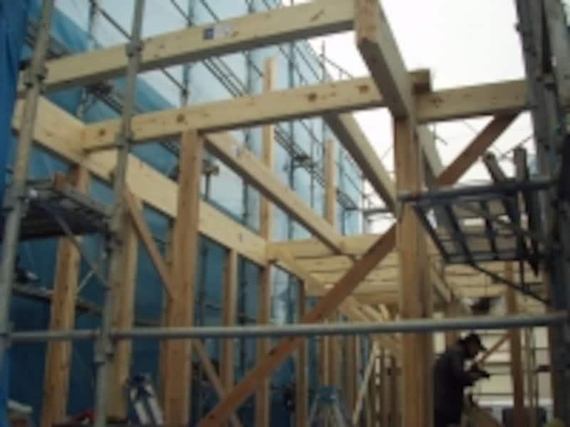 上棟工事の写真