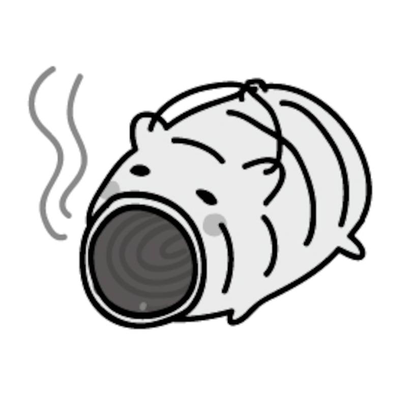 【モノクロ】可愛いぶたの蚊取り線香です。