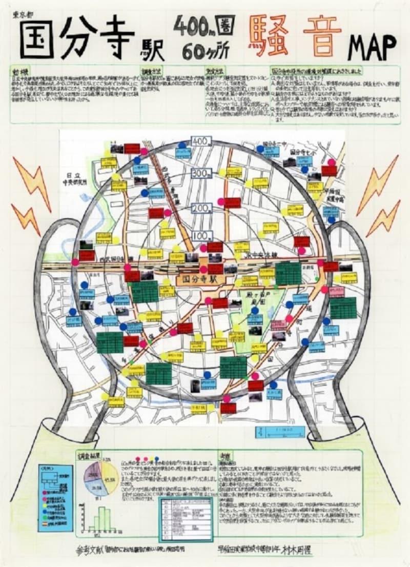 模造紙で自由研究まとめ方:地図編 入賞作品 例・見本