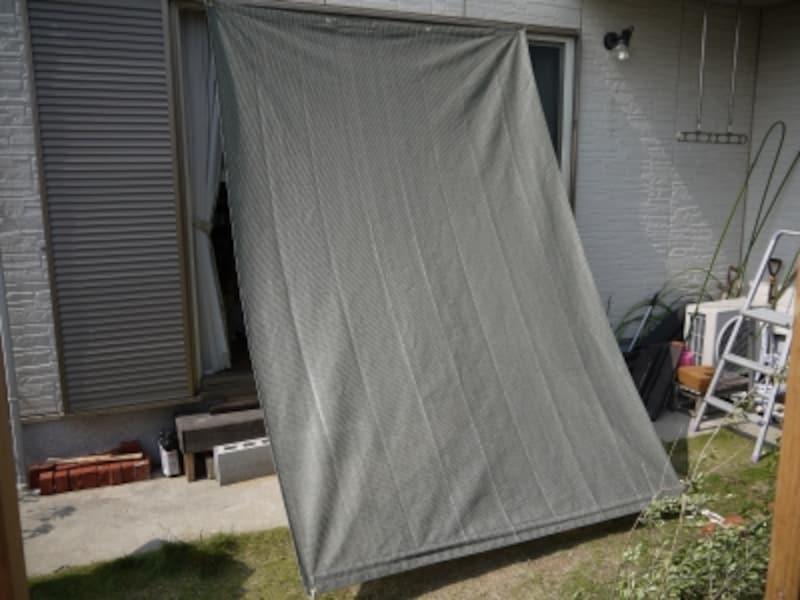 オーニング風サンシェード(日除け)を自宅のベランダや庭にDIY