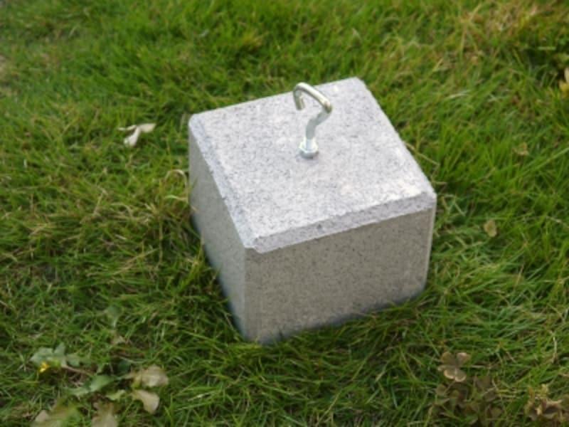 オーニング風サンシェード(日除け)のDIYに必要な道具:重量ブロック
