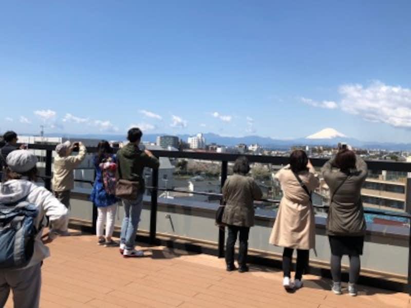 「湘南江の島」駅のルーフテラスは、早くも人気の撮影スポットに!
