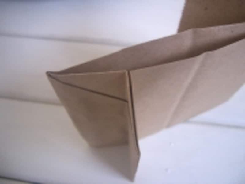 横マチの折込部分