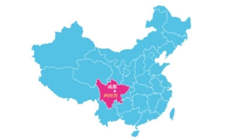四川省地図
