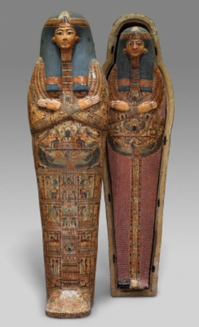 アメン・ラー神の歌い手ヘネトタウィの人型内棺とミイラ板RogersFund,1925(25.3.183a,b;25.3.184)Images(c)TheMetropolitanMuseumofArt.