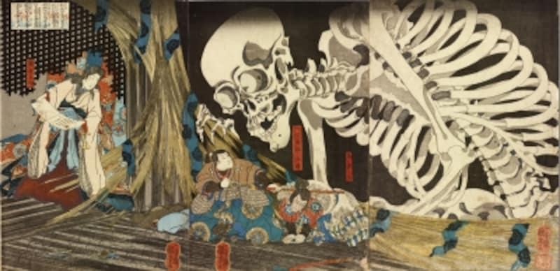 歌川国芳「相馬の古内裏」(個人蔵)