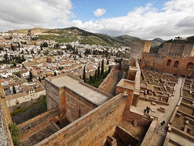 アルカサバから眺めたアルバイシン地区