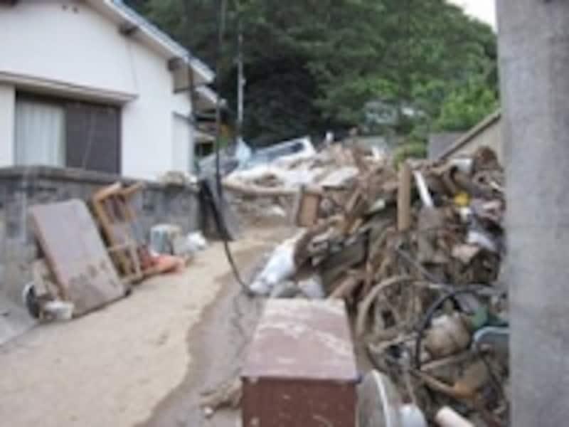 土砂災害に襲われた広島市安佐南区(
