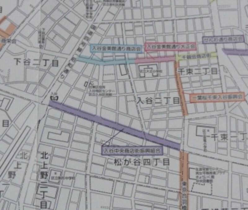 入谷には3つの商店街があるようだ