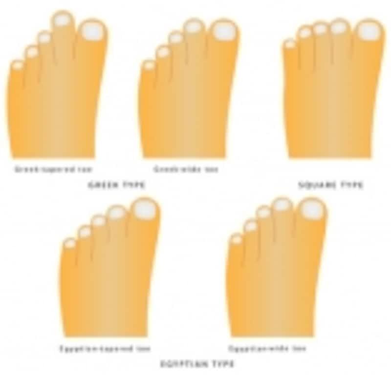 主だった足型の例。