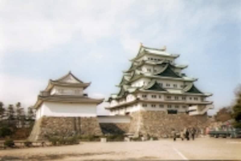 本丸御殿復元前の名古屋城天守閣