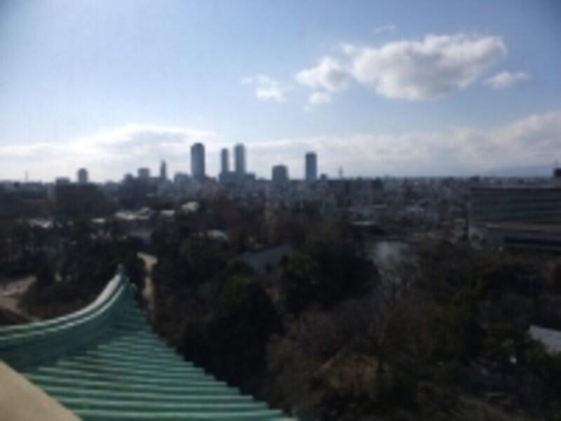 名古屋城(5)/天守閣からの眺め/名古屋駅方面