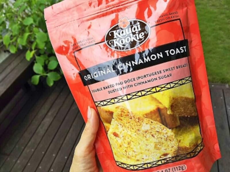 大きくカットされたシナモントーストは、朝食代わりにも。1袋4ドル弱
