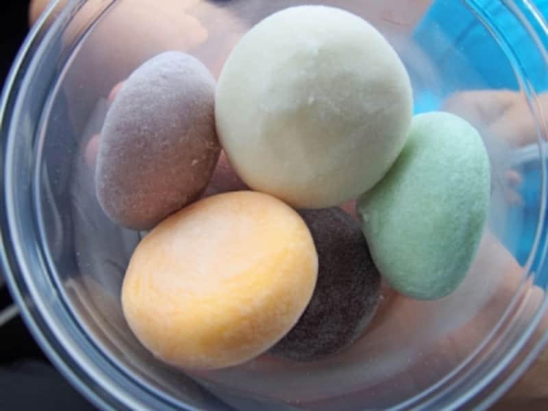 南国フルーツのフレーバーはもちろん、抹茶や小豆、さくら餅といった和のフレーバーも美味しいモチアイスクリーム
