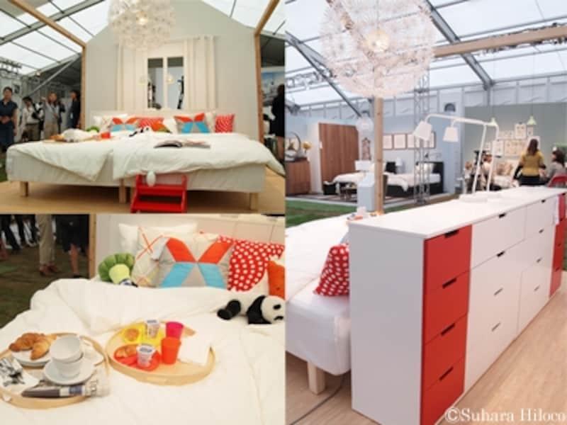 8畳の寝室と収納家具