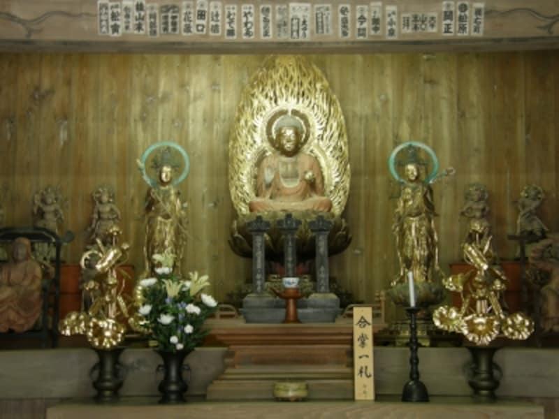 海蔵寺薬師三尊像