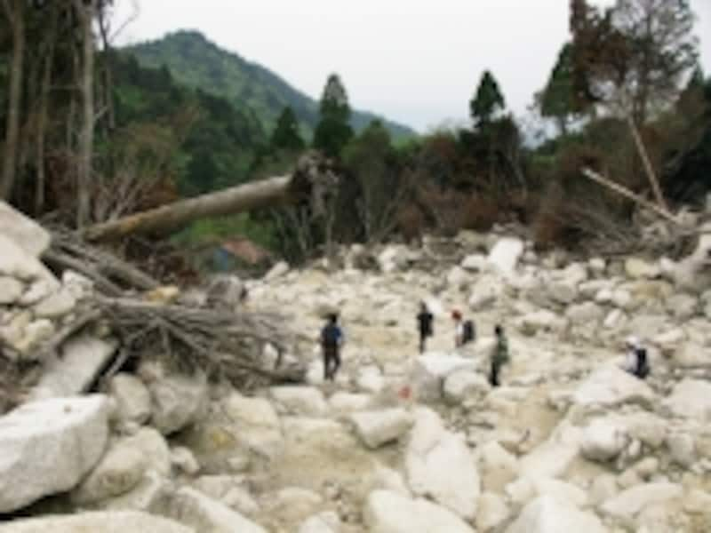 毎年のように発生している土砂災害