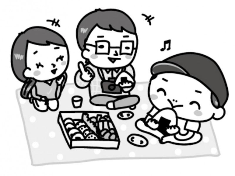 お弁当 運動会 イラスト 白黒 かわいい
