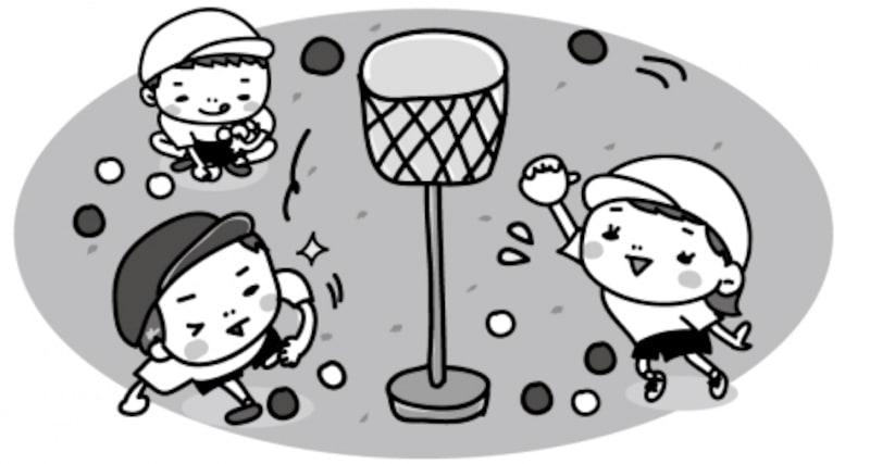 玉入れ 運動会 イラスト 白黒 かわいい