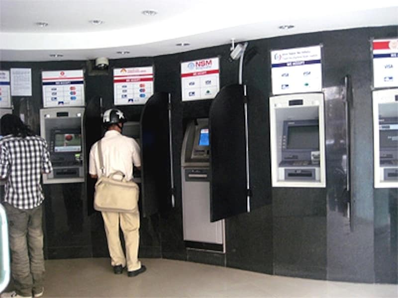 カトマンズ市内ATMラウンジ