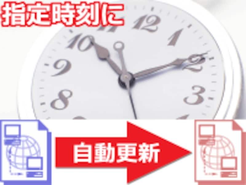 指定日・指定時刻になったときに、ウェブページを自動で更新させたい