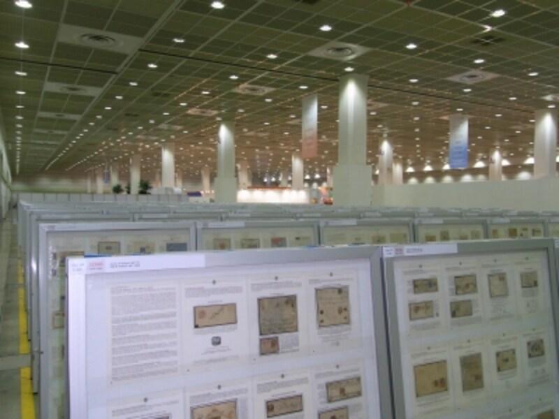国際切手展の展示スペース