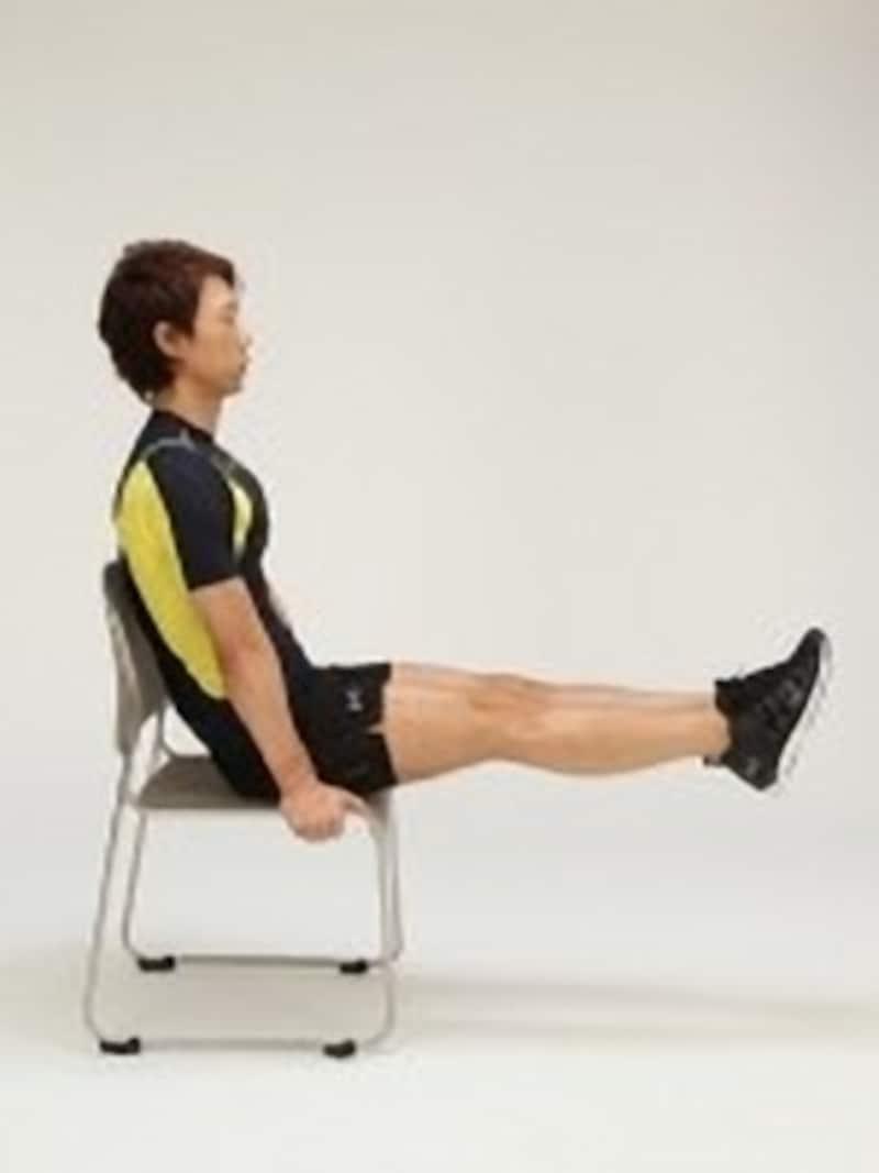 椅子を使って行う体幹強化トレーニング2-2
