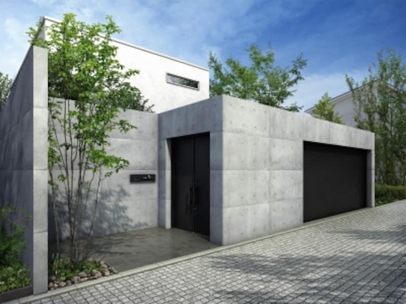 高さのある塀を巡らせ、防犯性を高めたエクステリアデザイン。undefined[エクスティアラ門扉H5型(プレーンデザイン)undefined独立納まりundefinedB7]undefinedYKKAPhttp://www.ykkap.co.jp/