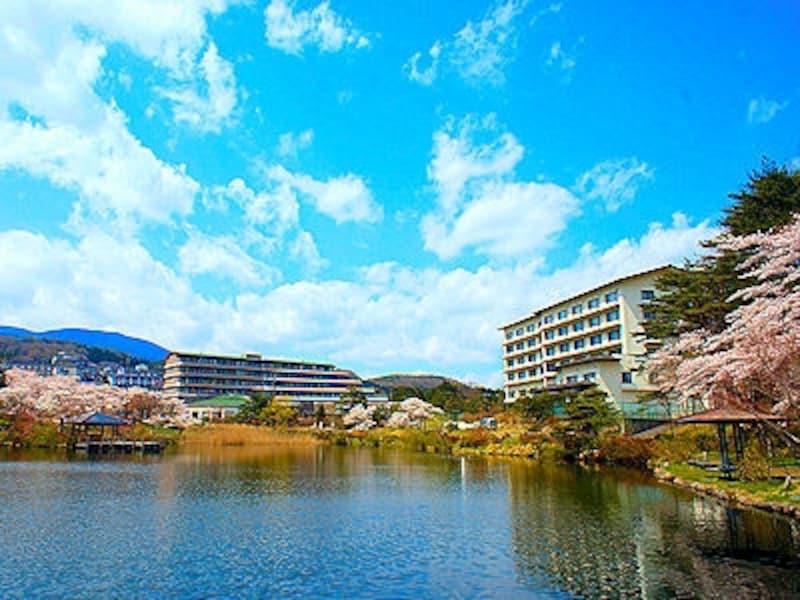 岳温泉鏡ヶ池