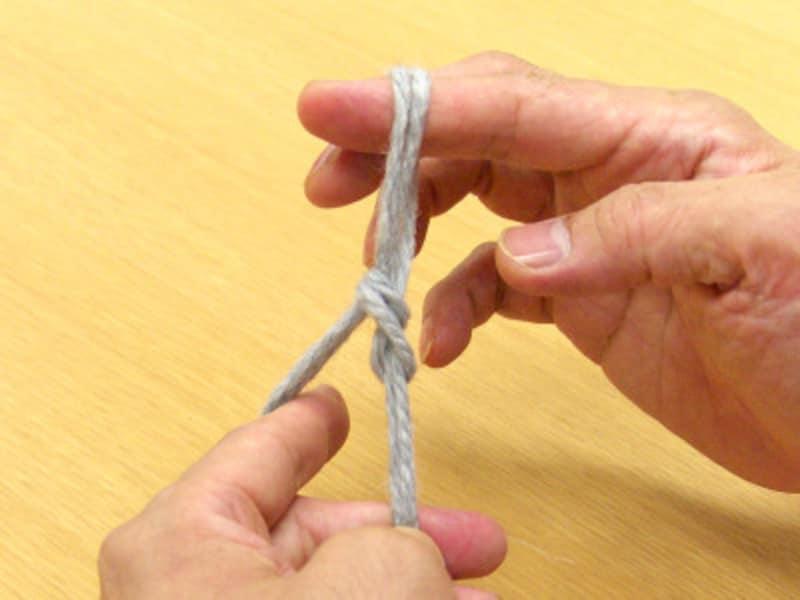鎖編み1目が完成