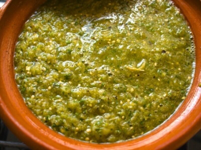 メキシコの味、緑が爽やかサルサ・ベルデのレシピ [メキシコ
